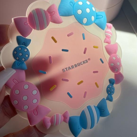 Starbucks coaster pink & blue
